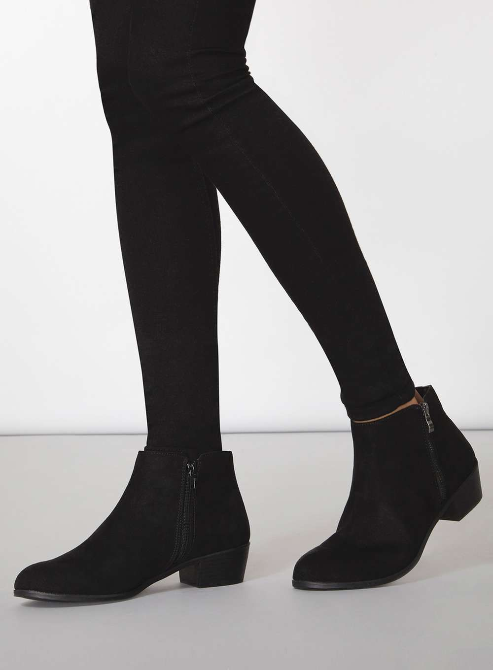 Wide Fit 'Wrapy' Black Wide Fit Boots