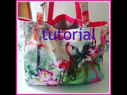 Borsa di stoffa fai da te per il mare tutorial di cucito for Cucito creativo youtube