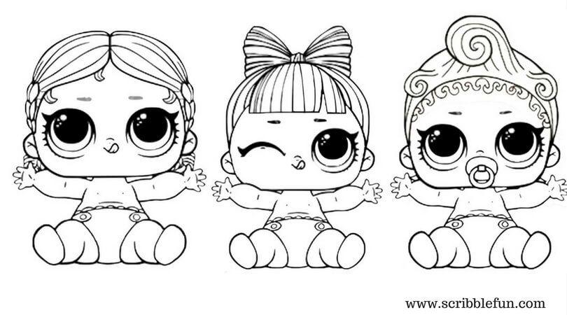Coloring Page Free Printable Lol Surprise Dolls Coloring Pages 810 X 450 Pixels Halaman Mewarnai Buku Mewarnai Lol