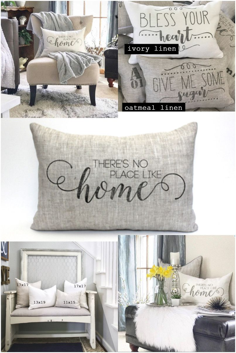 there's no place like home pillow, throw pillow, word