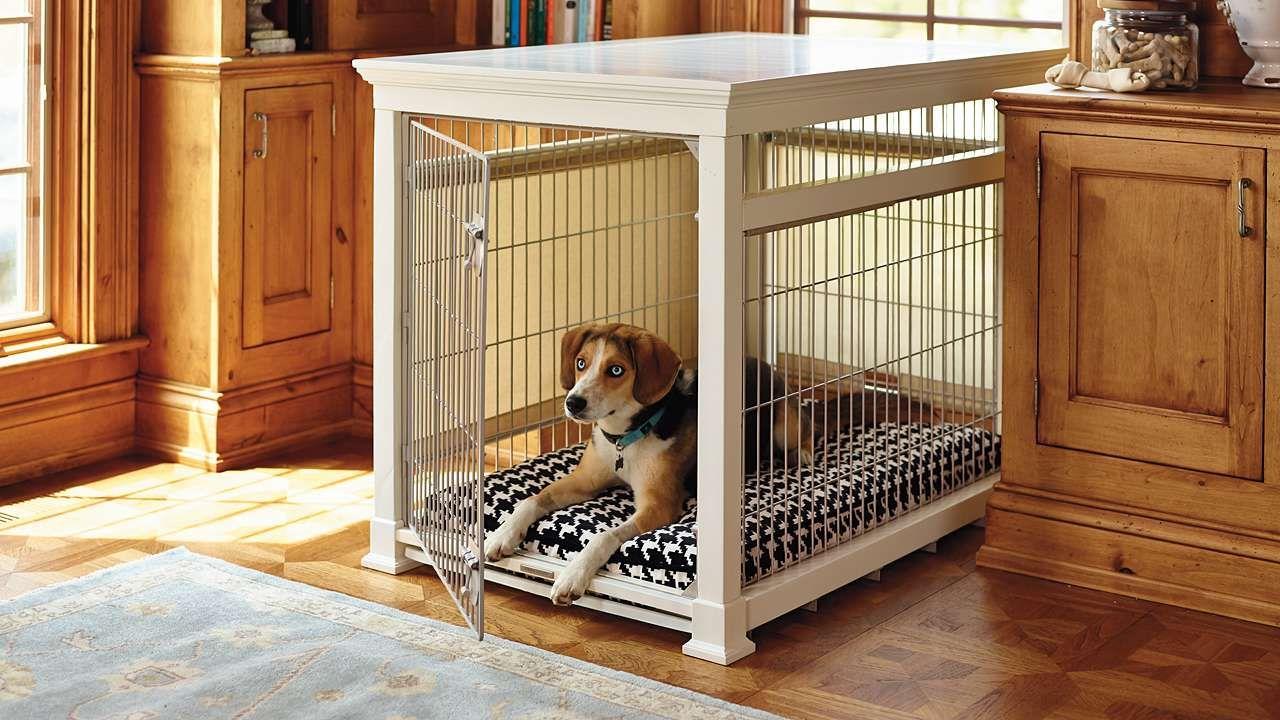 Luxury White Pet Residence Dog Crate Mickey & Minnie ️