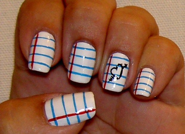 Back To School Notebook Nails