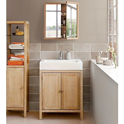 buy john lewis heywood double vanity unit with sink and tap natural online at johnlewis - Bathroom Cabinets John Lewis