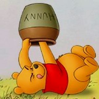 Pooh Is Hungry For Honey With Images Cute Winnie The Pooh