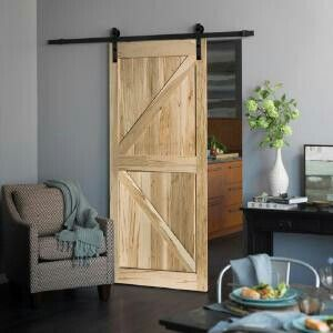 3423 Series Ready To Stain K Design Country Maple Barn Door With Sliding Hardware Kit