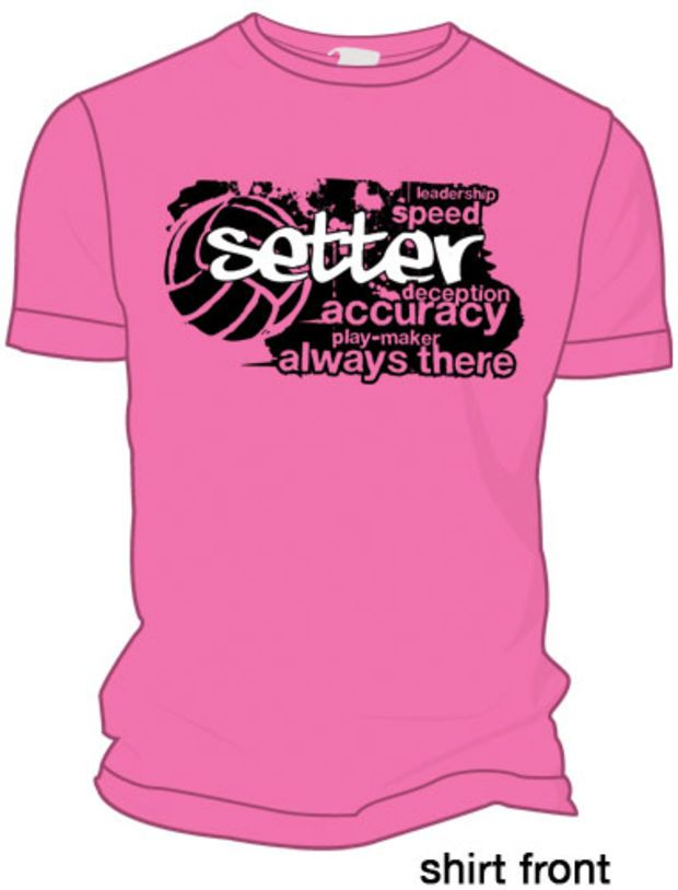 31af79094b Midwest Volleyball Warehouse - Pink Setter T-Shirt   volleyball ...