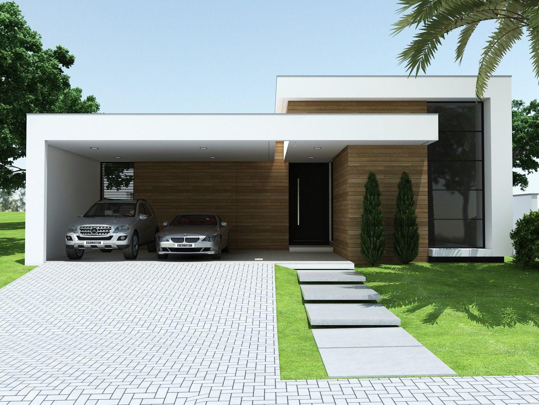 Pt projetos c 111 fachadas for Casa moderna 150 m2