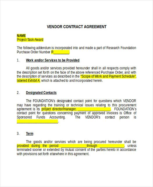 10 Agency Contract Templates to Download Sample Templates