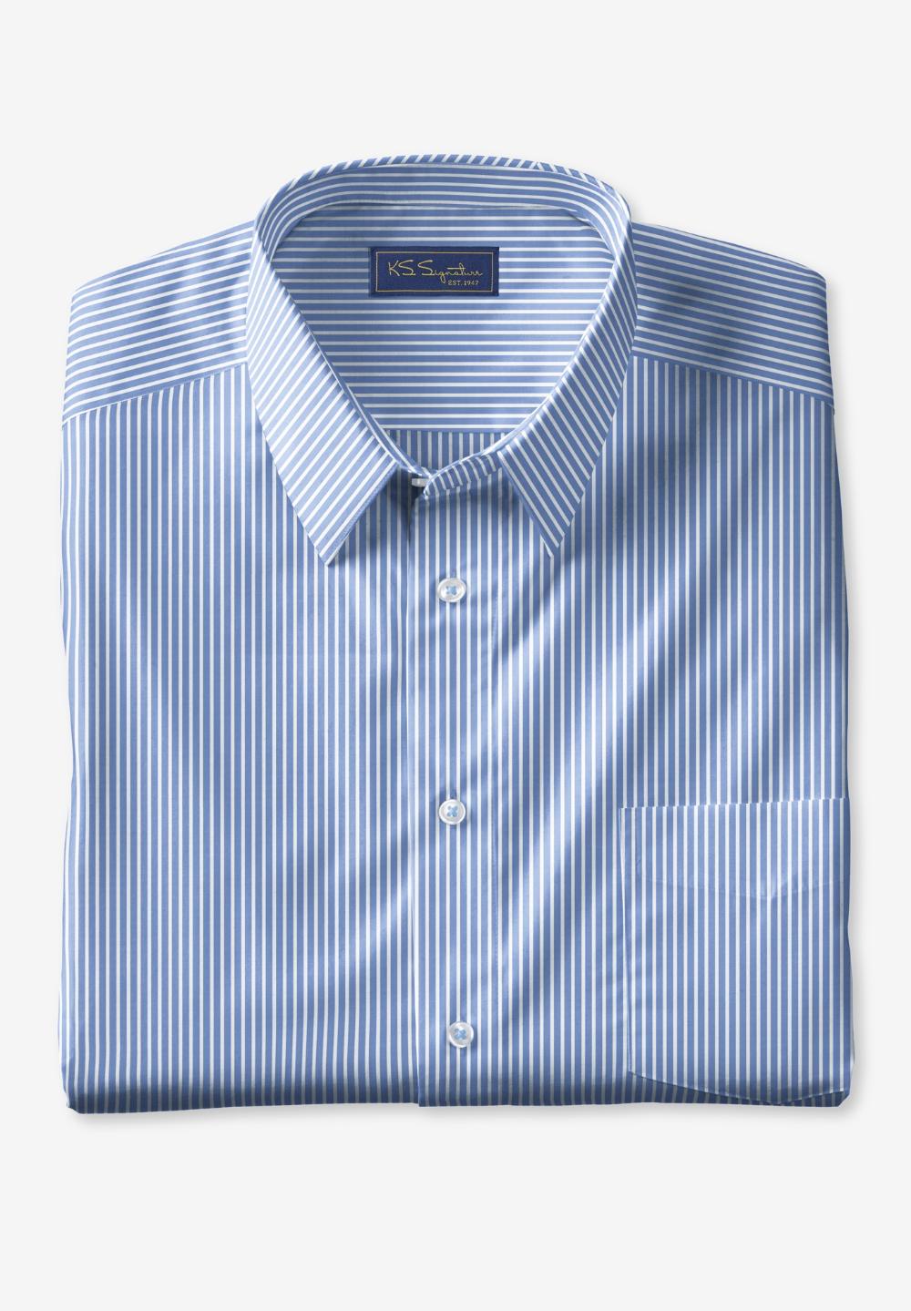 Ks Signature No Hassle Long Sleeve Dress Shirt King Size Shirts Long Sleeve Shirt Dress Shirt Dress [ 1439 x 1000 Pixel ]