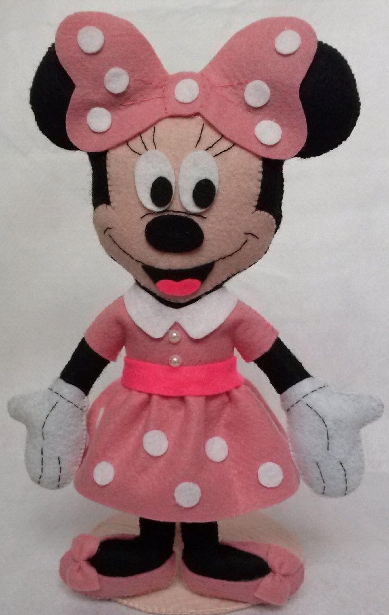 Amado Minnie Mouse em pé. <br>Vermelha ou rosa. | bonecas de pano  DO53