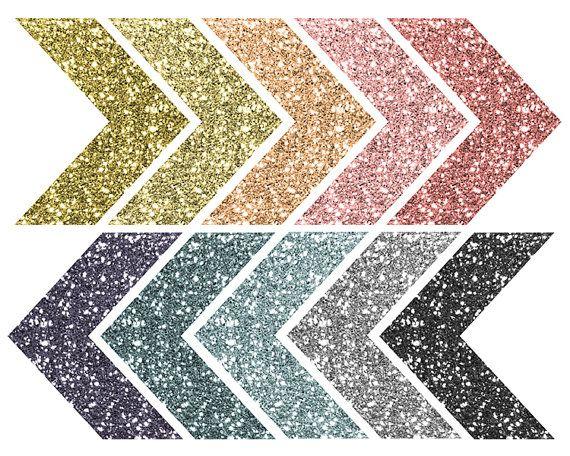 Glitter Clip Art / Chevron Sparkle Clip Art Arrows / Tribal Digital Clip Art / Chevron Clipart / Blog Graphics / Glitter Arrows #clipartfreebies