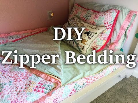 65 Diy Zipper Bedding Using Sheets And Blankets You Already Have Youtube In 2020 Zipper Bedding Diy Kids Bed Diy Bunk Bed