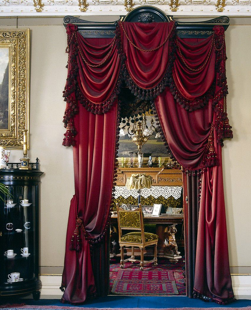 Victorian velvet curtains - Portiere Curtains Or Panels Are A Beautiful Way To Treat An Interior Opening I Want This For My Bedroom Door