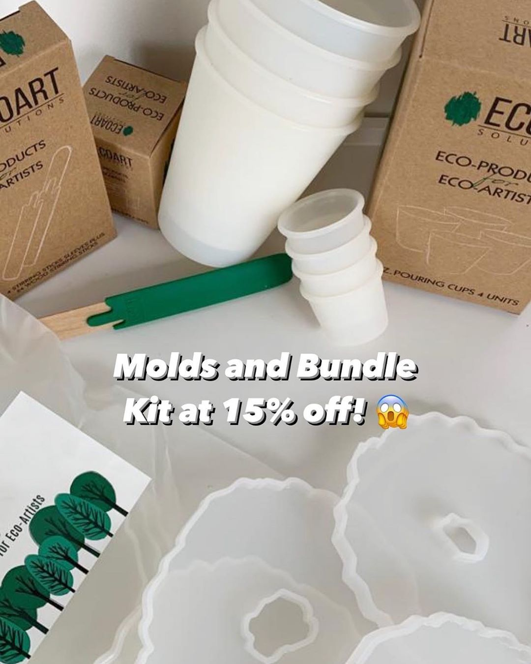 Labor Day Sale is still on! ✨  This is your chance to hoard eco-friendly materials that is perfect for your artworks and perfect for the environment.  Click the link and add to cart now! Use code: LD15 to get 15% off your total purchase! 🤩  #resin #resincoastermolds #resinlife #resinmold #resincast #resintray #resinartwork #resinart #handmaderesin #resinwithlove #artistsoninstagram #acrylicart #diyresin #geodeart #resincoasters #pouringart #epoxyresin #epoxyresincoasters #epoxyart #epoxyartists
