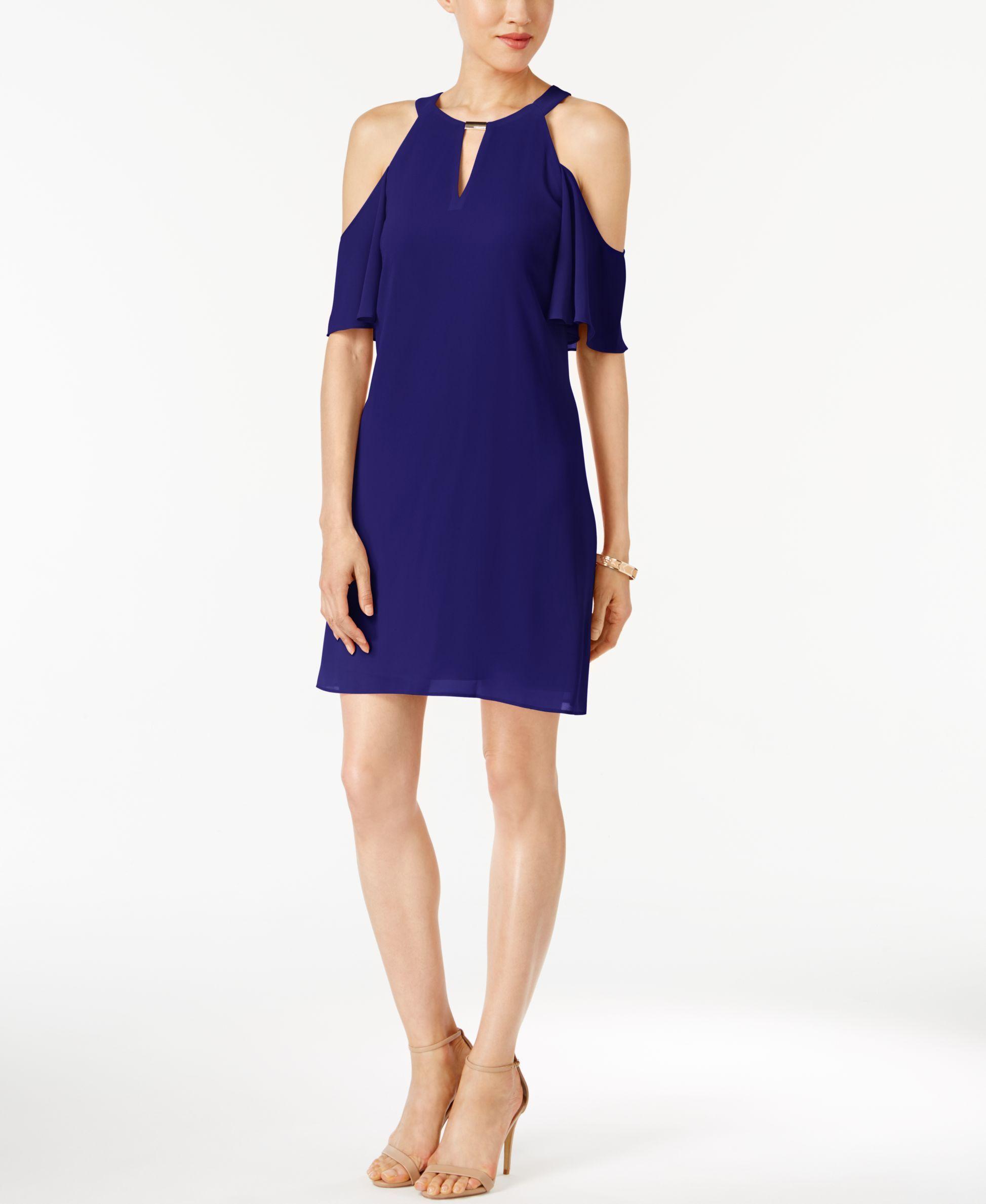 Vince Camuto Cold Shoulder Keyhole Shift Dress Casual Dress Shift Dress Shoulder Maxi Dress [ 2378 x 1947 Pixel ]