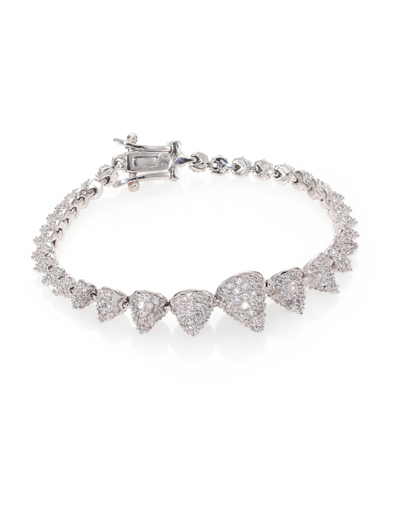 Eddie borgo pavé crystal graduated mini cone bracelet accessories