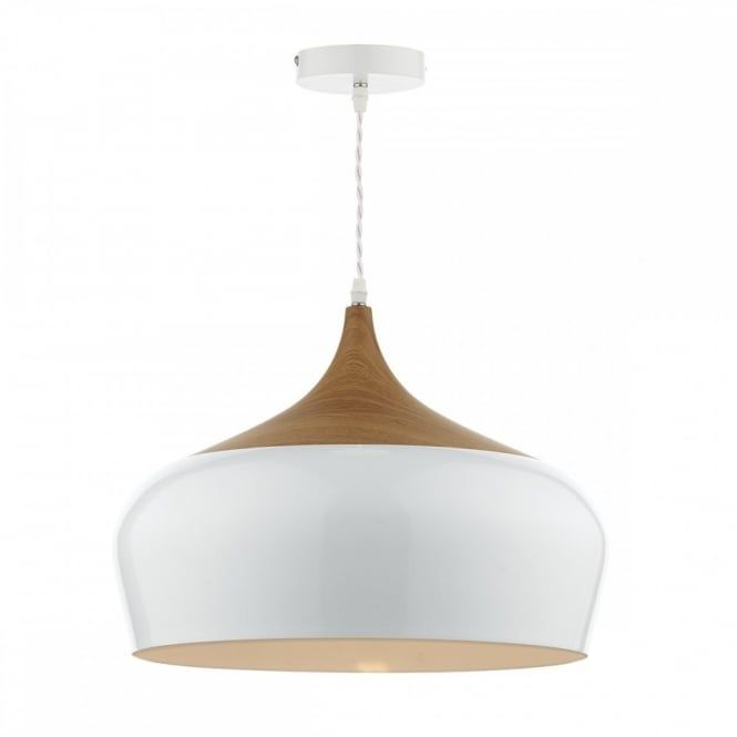 The gaucho 1 light pendant white large reflects sophistication from every facet owing to its simple and fuss free styling