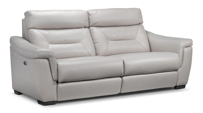 Ralston Power Reclining Sofa Silver Grey Power Reclining Sofa Sofa Reclining Sofa