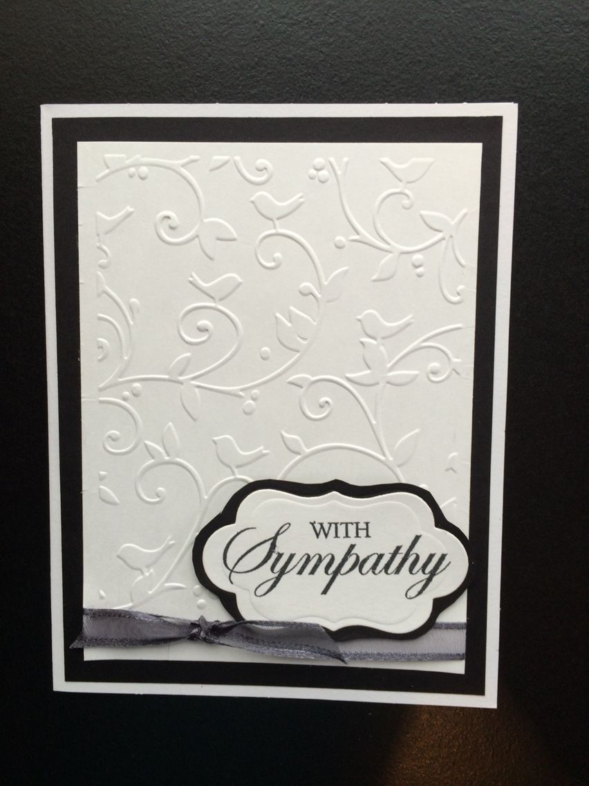 Sympathy Card Using Spellbinders Petite Labels One Die D Lites And With Sympathy Clear Stamp 5x6 5 Pre Sympathy Cards Handmade Sympathy Cards Embossed Cards