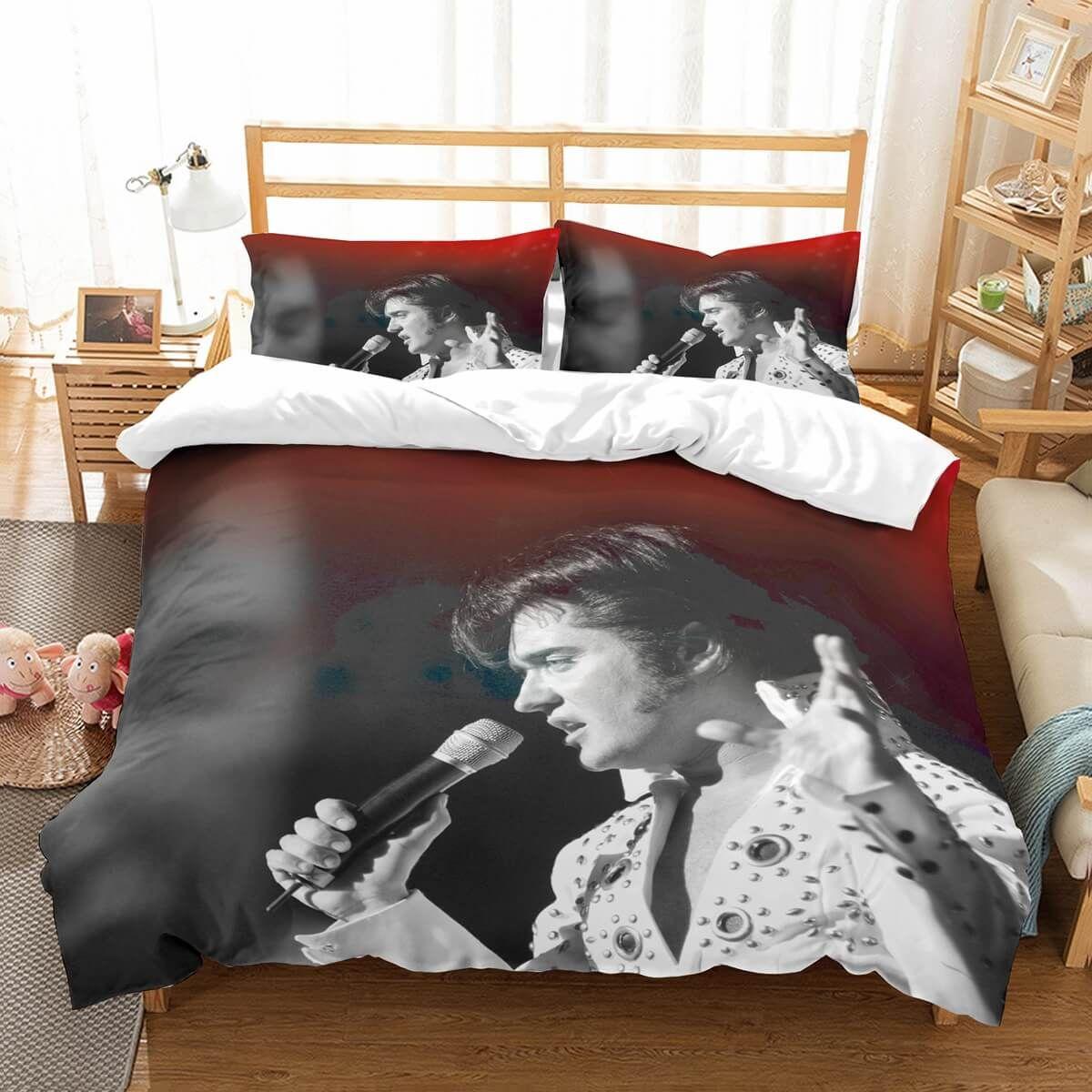3d Customize Elvis Presley Bedding Set Duvet Cover Set Bedroom Set