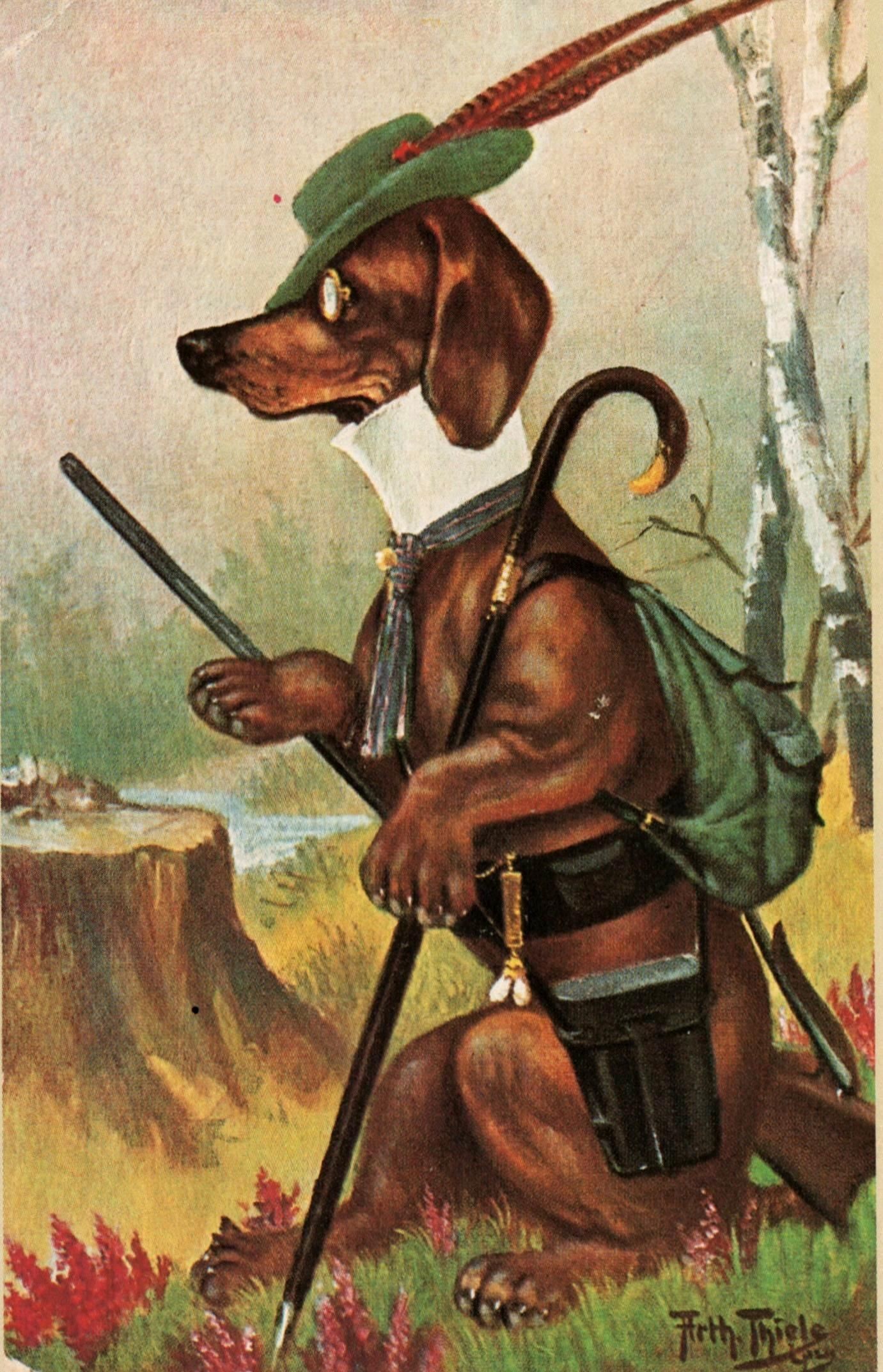 Arthur Thiele Ill Pc Dog Hunter B 42234369955 O Dogs Vintage