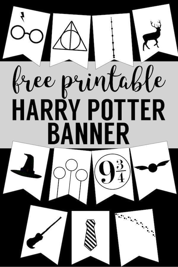 Harry Potter Banner Free Printable Decor Harry Potter Banner Harry Potter Bedroom Harry Potter Bday