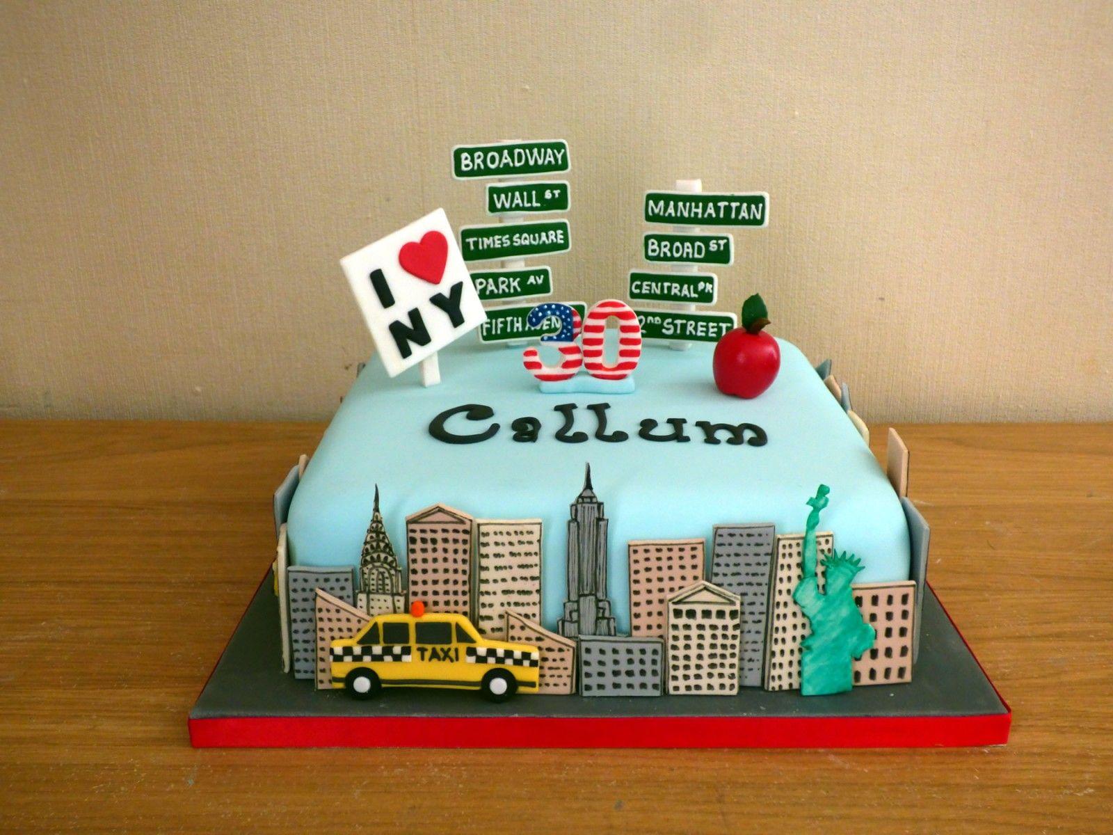 New York Themed Birthday Cake Birthday Cake Ideas Pinterest