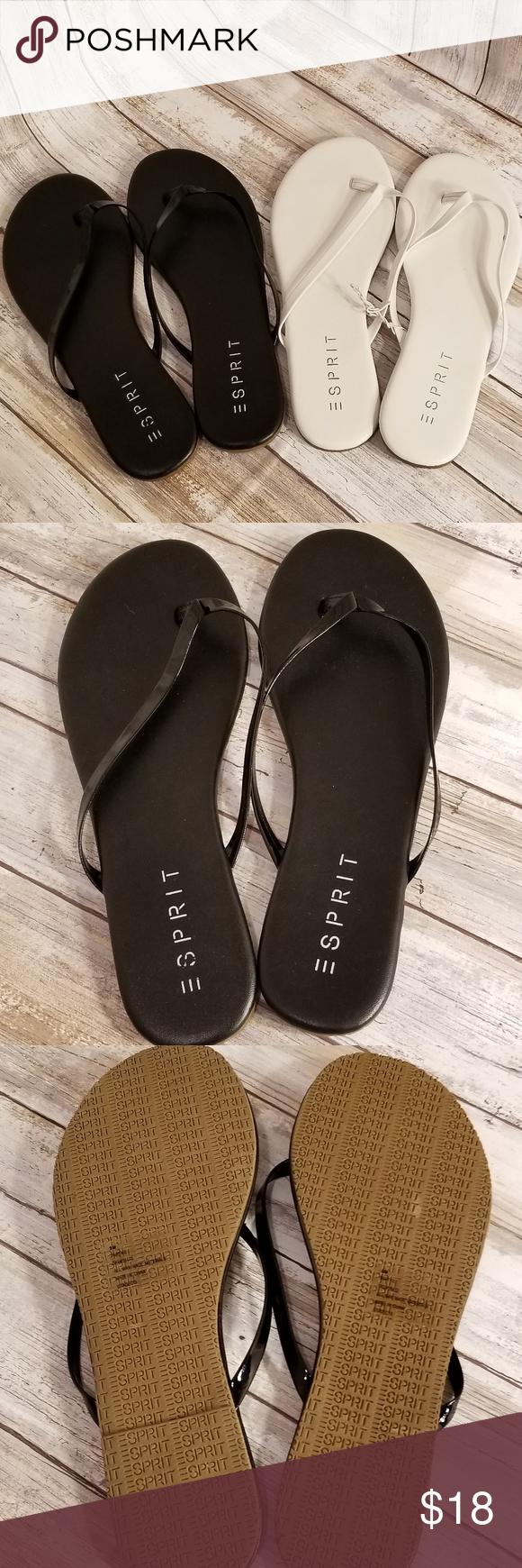 71ca0ee3ff7a ESPRIT PARTY E 2 FLIP FLOP SANDAL S SIZE 8  2 PAIR Lot of 2 pairs of ...