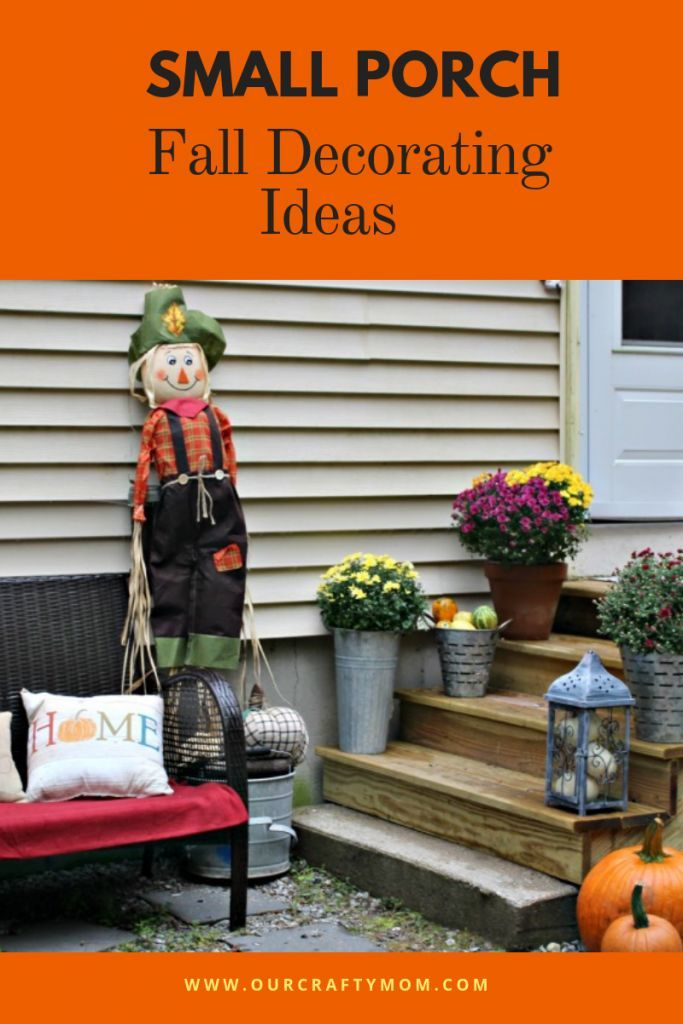 Beautiful Small Porch Decorating Ideas For Fall #smallporchdecorating