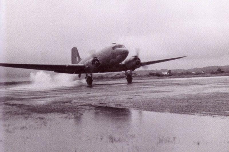Douglas DC-3 Dakota in Burma in 1944.