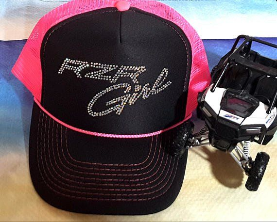 ab2059b3287 RZR Girl Curved Bill Trucker Hat