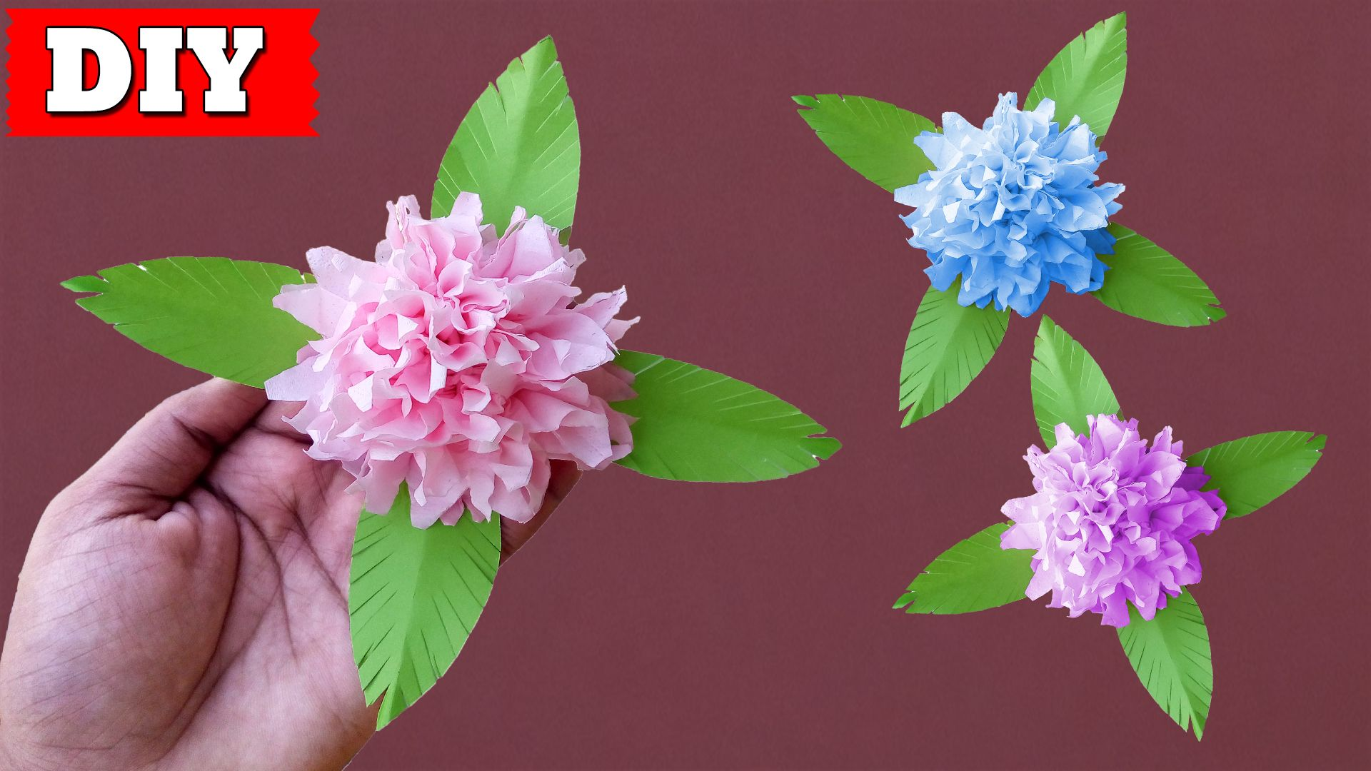 In This Video You Ll Learn How To Make Tissue Paper Flower Easy