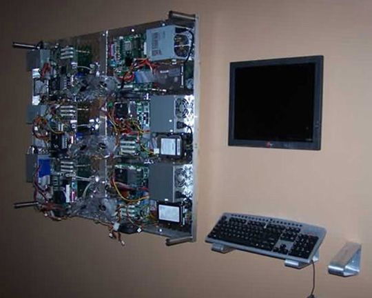 DIY Supercomputer Found in Office Lobby   Computer case ...
