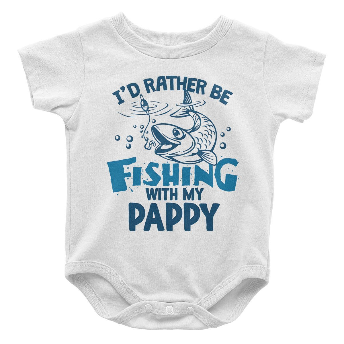 Baby Boys Kids I D Rather Be Fishing Printed Long Sleeve 100/% Cotton Infants T Shirts