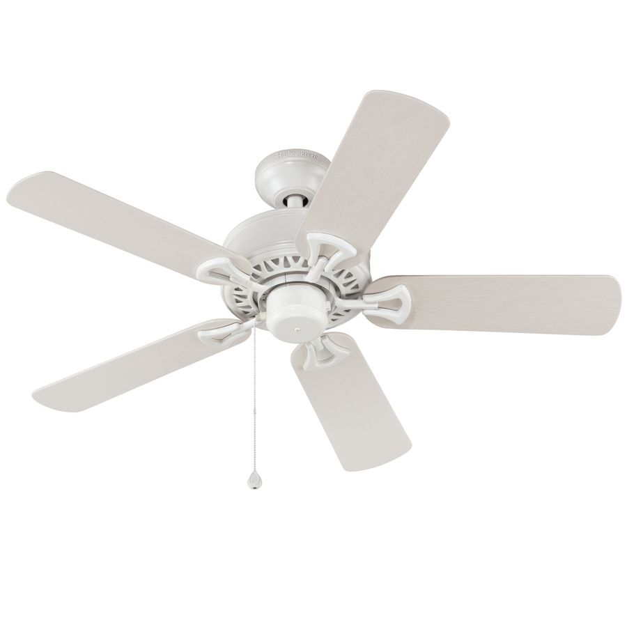 Harbor Breeze Calera 42 In White Downrod Or Close Mount Indoor Outdoor Residential Ceiling Fan Lowes Com Outdoor Ceiling Fans Ceiling Fan Ceiling