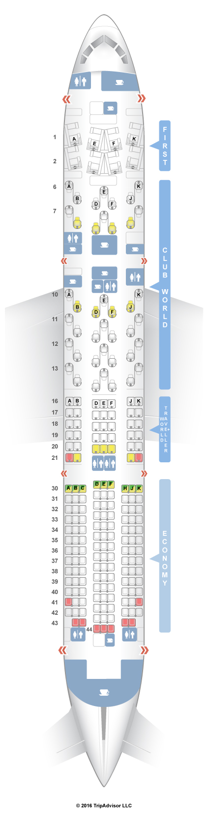 Seatguru Seat Map British Airways Boeing 787 9 789