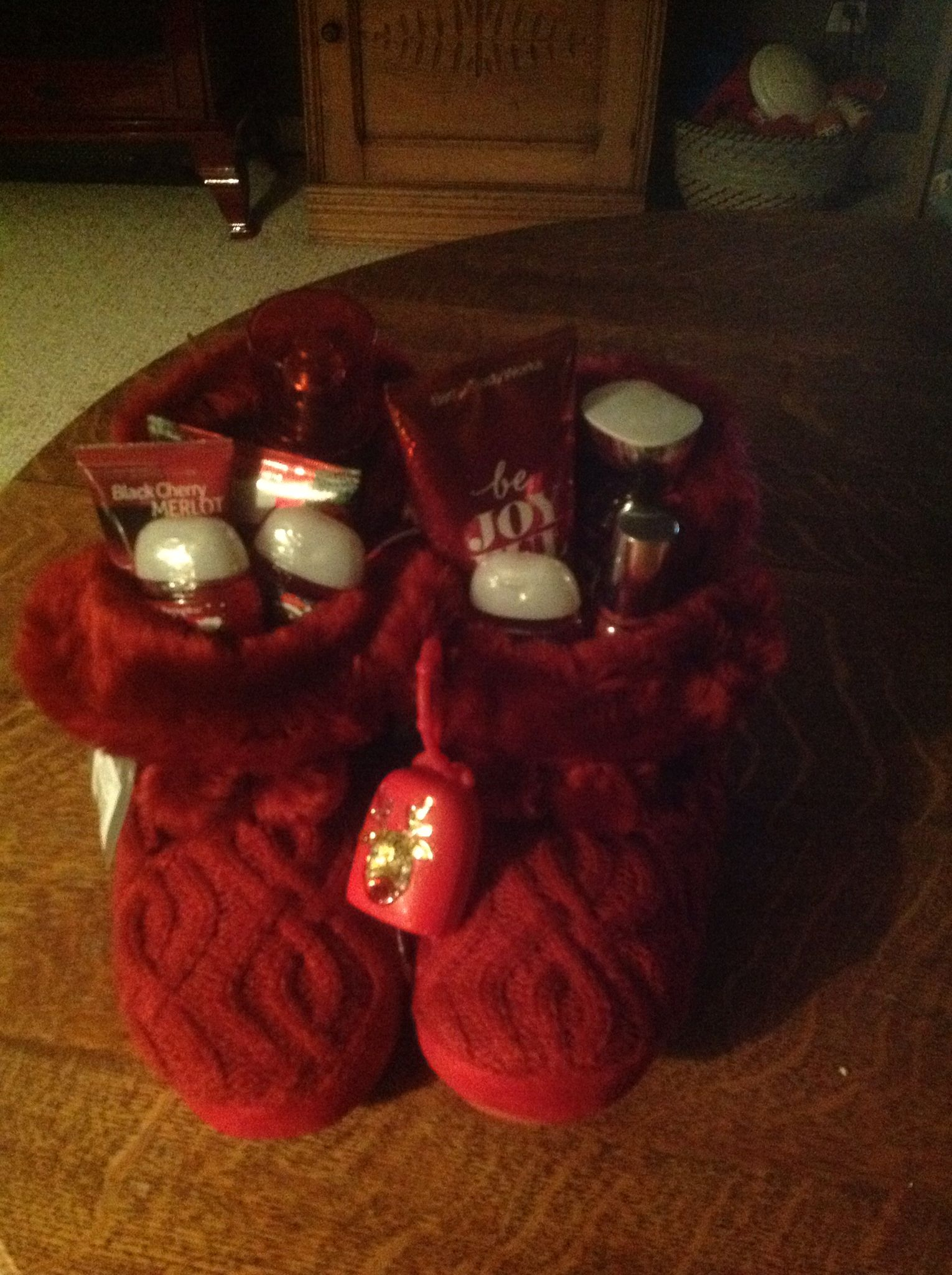 Christmas Present For My Son S Girlfriend Slippers Full Of Bath And Bodywork Christmas Presents For Girls Trending Christmas Presents Trending Christmas Gifts