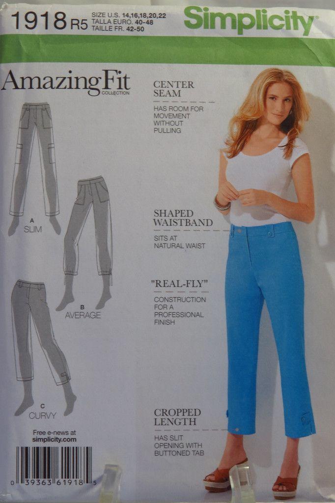 Simplicity 1918 Misses\'/Miss Petite Amazing Fit Pants | clothes ...