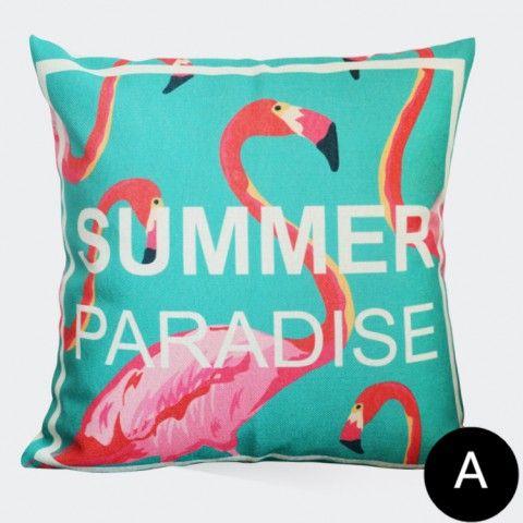 Flamingo Tropical Throw Pillows For Living Room Bright Colors Extraordinary Bright Colored Decorative Pillows