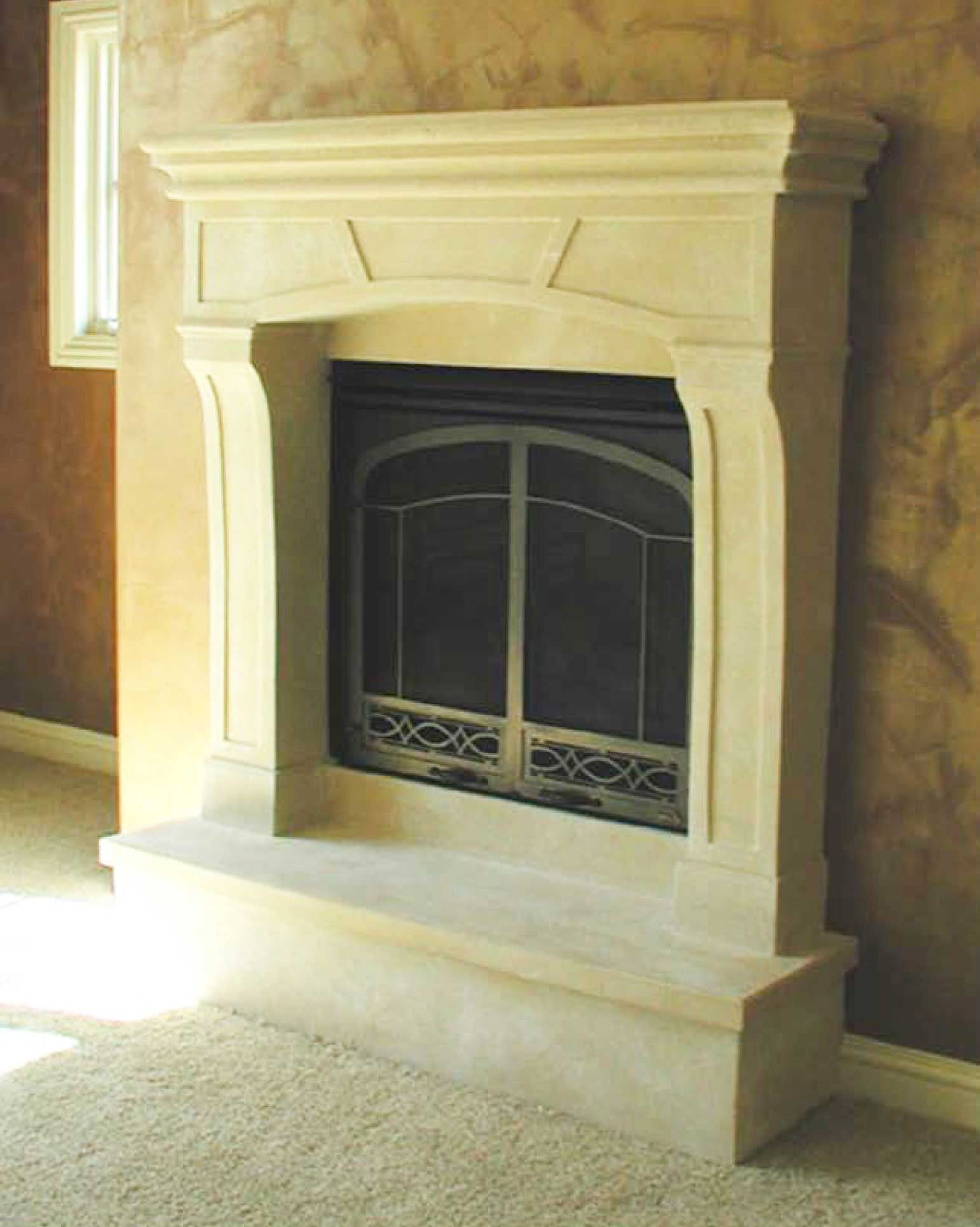 Make out of hypertufa? Stone Fireplace Mantels - Stone Surrounds ...