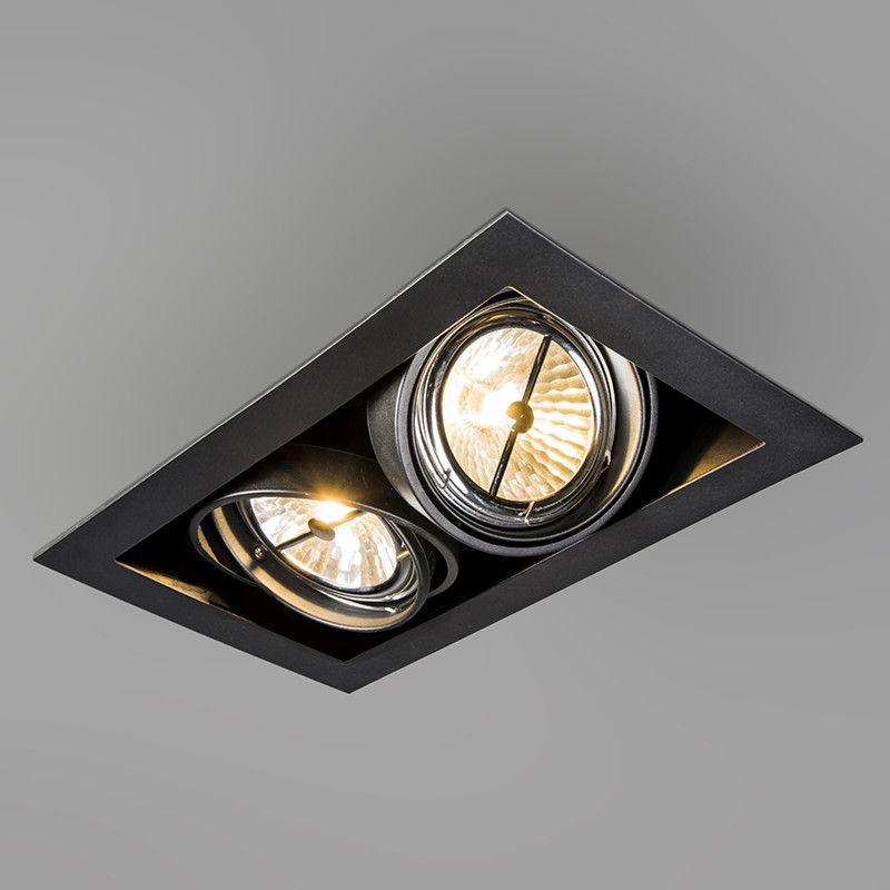 Rectangular Built In Spot Black Oneon 111 2 Einbauspots