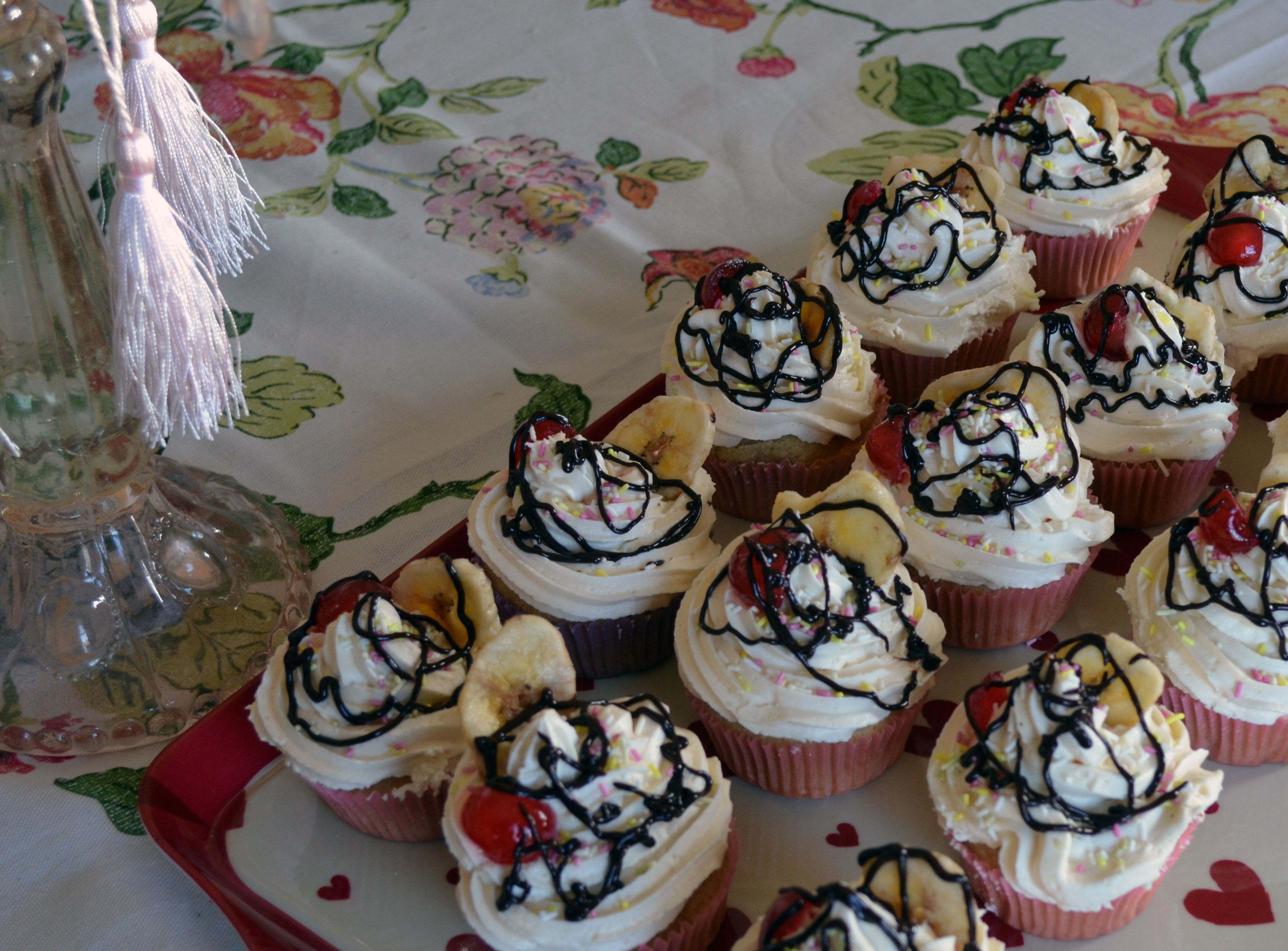 Vanilla Party Cupcakes by Cakeability.  All vegan.