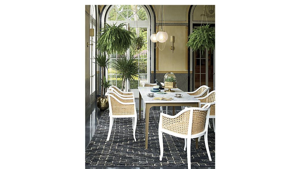 Tremendous Tayabas Cane Side Chair And Black Cushion Dining Room Inzonedesignstudio Interior Chair Design Inzonedesignstudiocom