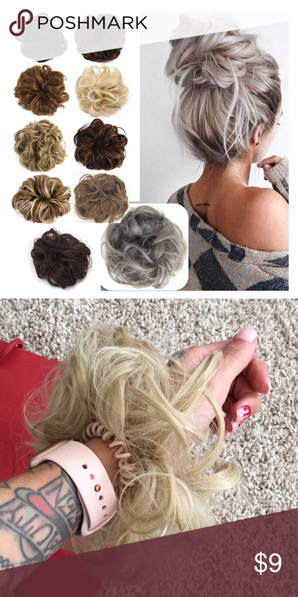 Faux Hair Scrunchie Messy Bun Faux Hair Scrunchie  Perfect for messy buns Each h... - architectureworld - #architectureworld #bun #Buns #Faux #Hair #Messy #Perfect #scrunchie #hairscrunchie
