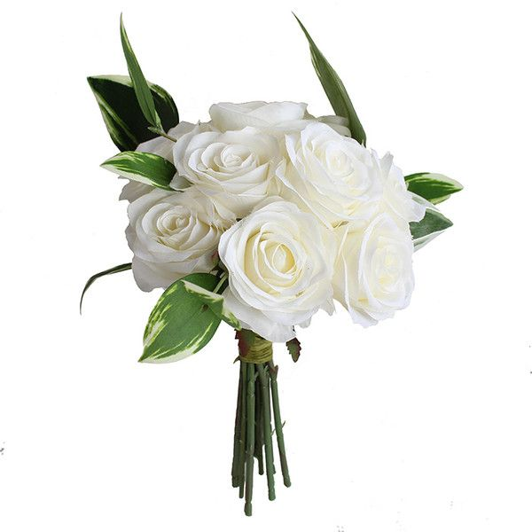 Pics For > White Flowers Bouquet Png featuring polyvore, home, home ...