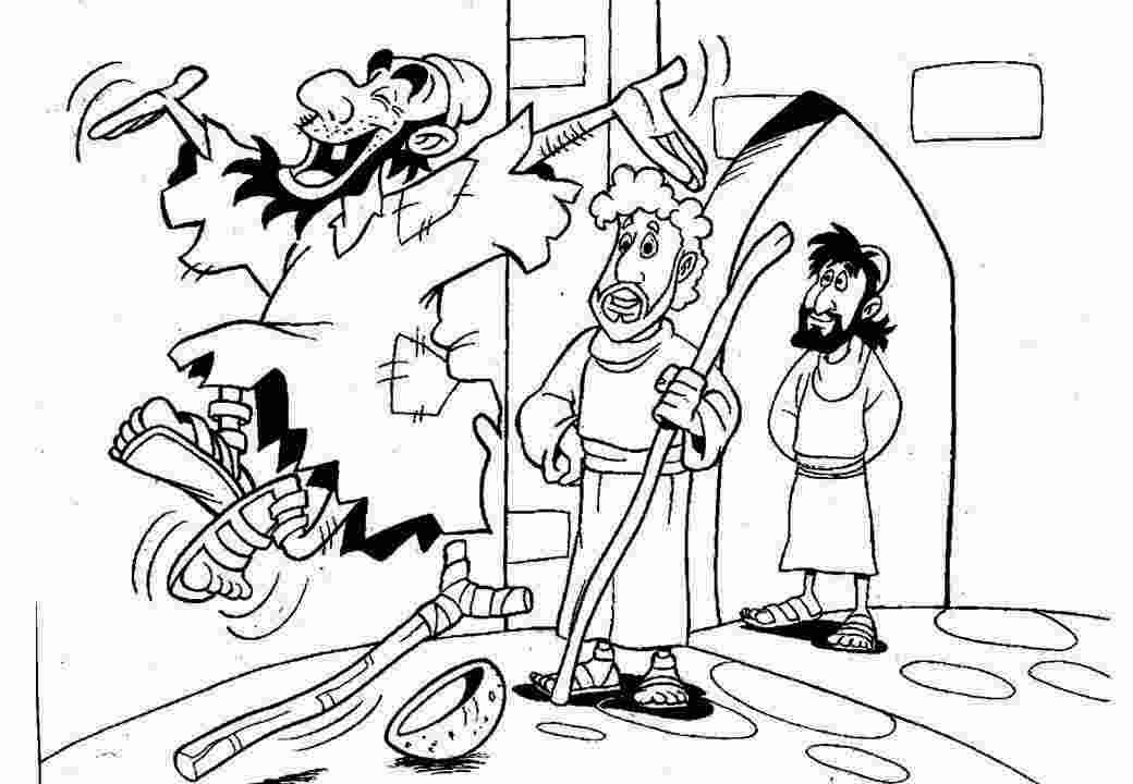 Coloring Book Coloring pages of lame man healed More