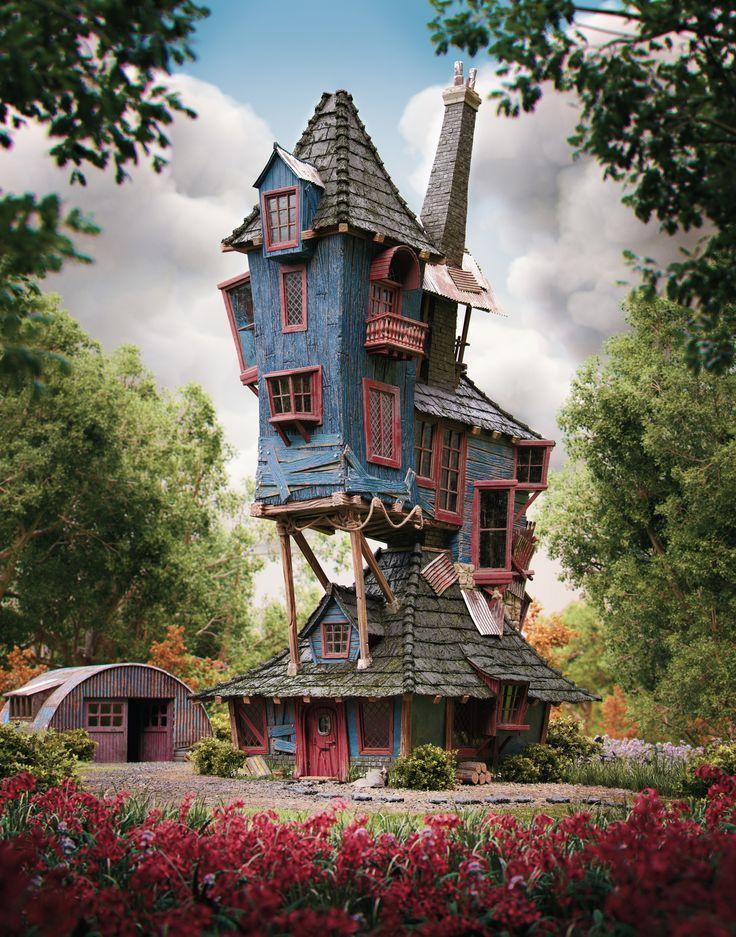 Artstation Harry Potter The Burrow Weasley S Family Home Rafael Chies Konsept Sanati Seyahat Posterleri Sanat