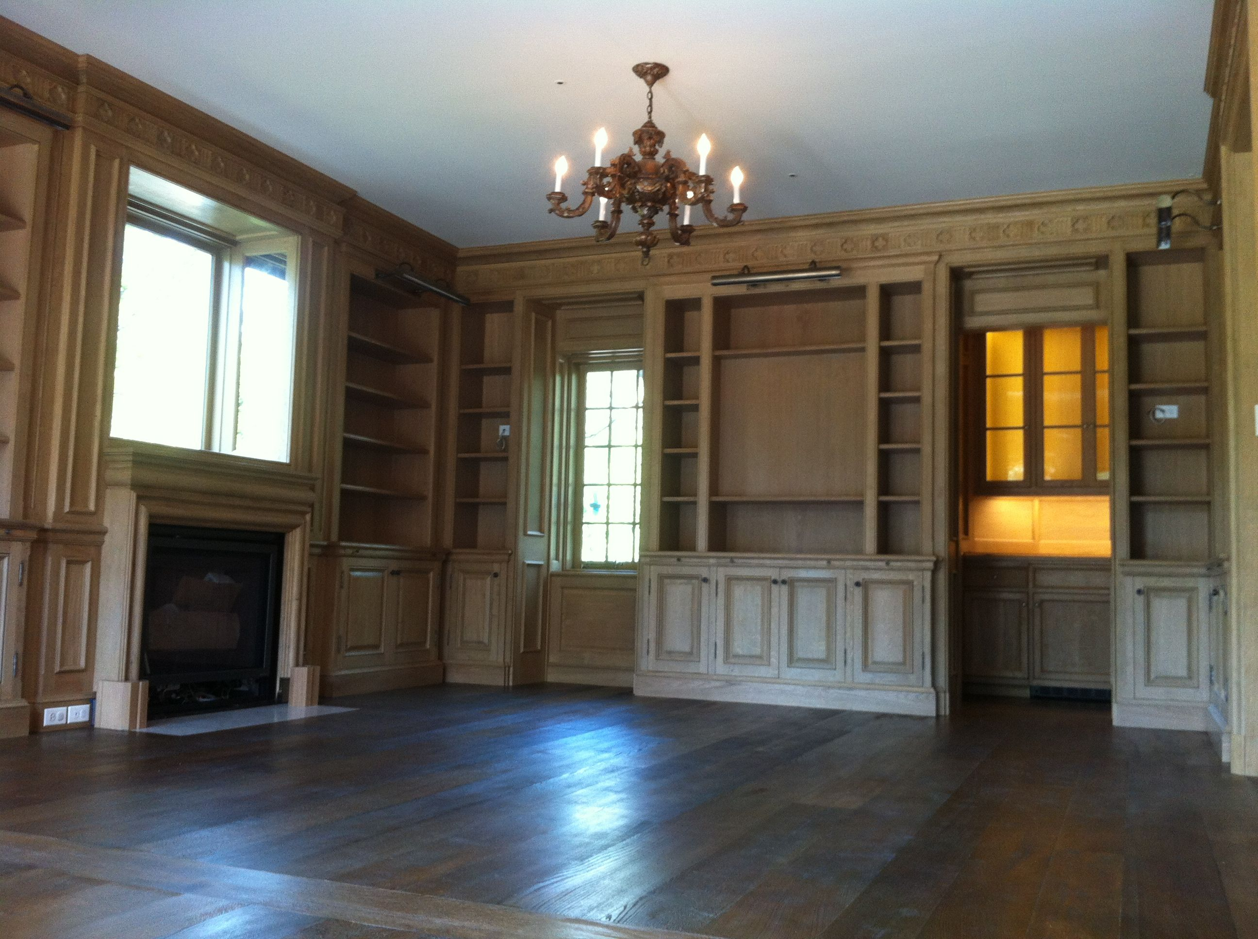 A private library in chicago large finishing project the client