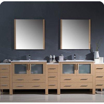 Fresca Torino 108 Double Bathroom Vanity Set With Mirror Vanity