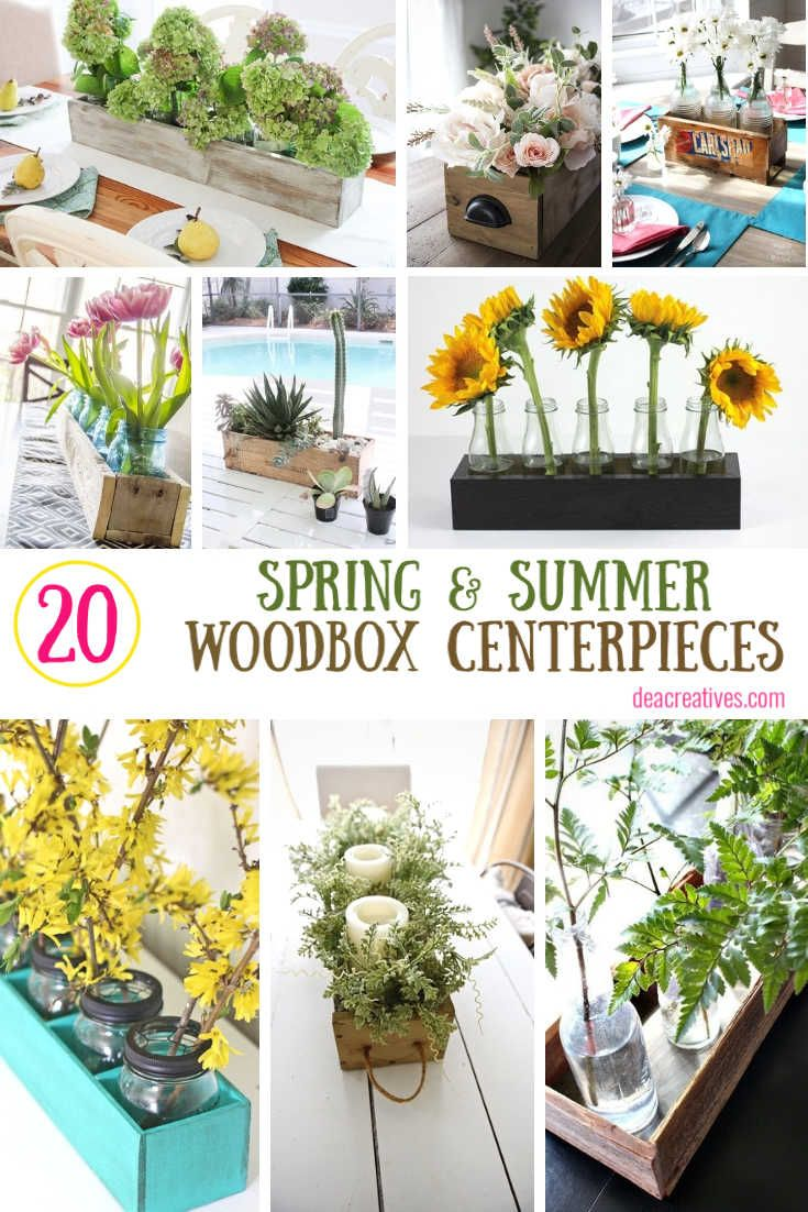 wood flower table arrangements